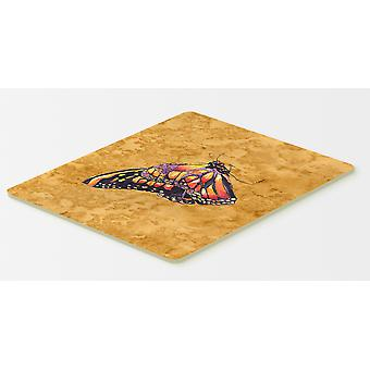Carolines Treasures  8858CMT Butterfly on Gold Kitchen or Bath Mat 20x30