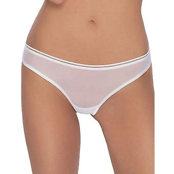 Roza Women's Lica White Sheer Panty Thong