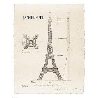 La Tour Eiffel Poster Print by Yves Poinsot (11 x 14)