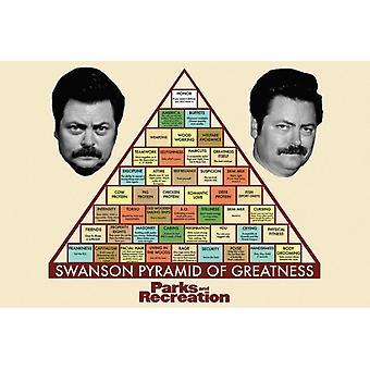 Parks & Rec Pyramid Poster Print Swanson Pyramid Poster Poster Print