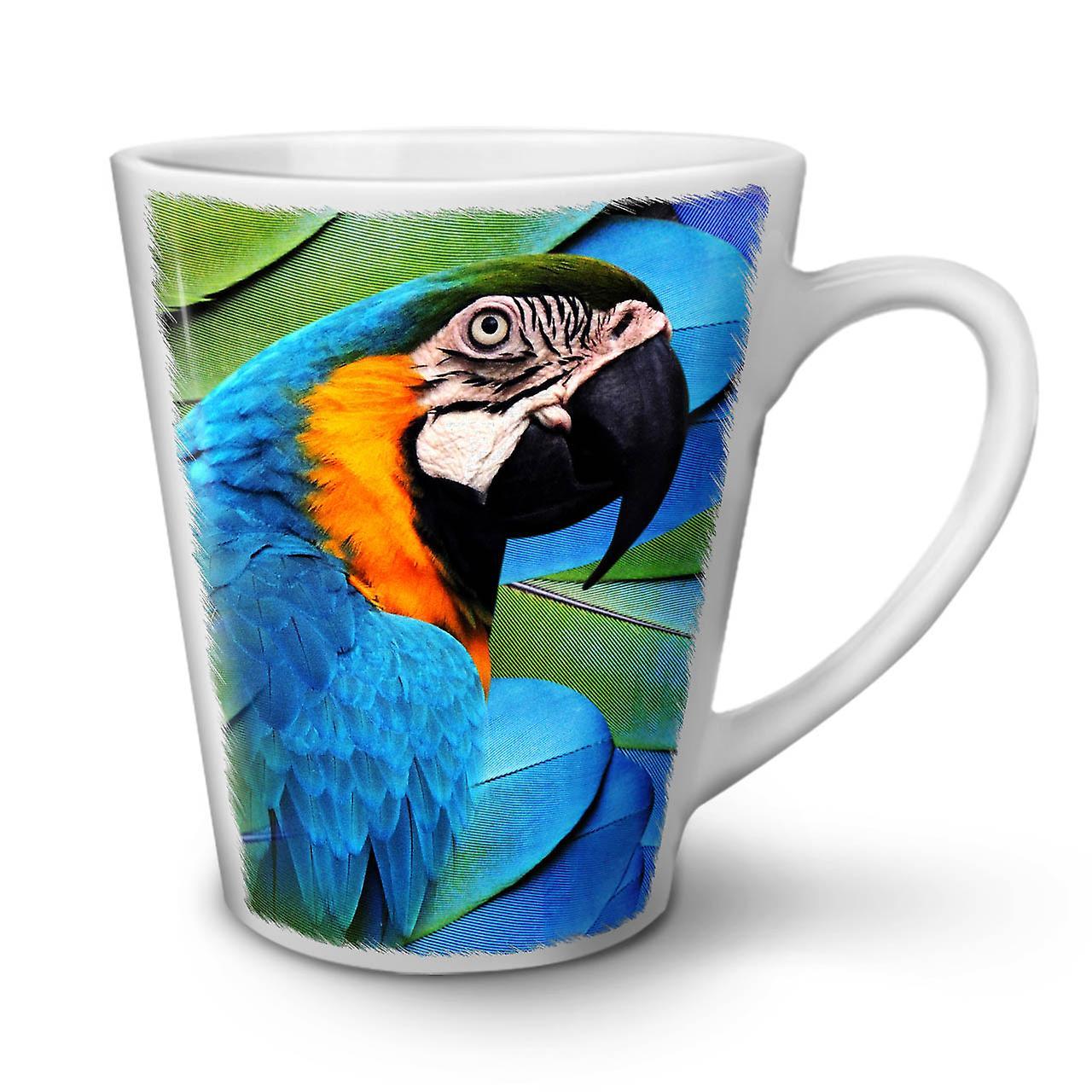 Mignon Nouveau Mug Perroquet Blanc En OzWellcoda Céramique Thé 12 Latte Oiseaux Café 6Ybyvf7g