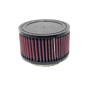 K&N RU-2420 Universal Clamp-On Air Filter: Round Straight; 3 in (76 mm) Flange ID; 3 in (76 mm) Height; 5 in (127 mm) Ba
