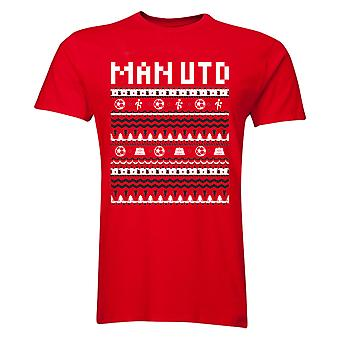 Man Utd Christmas T-Shirt (Red) - Kids