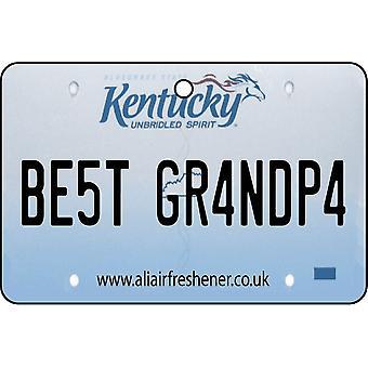 Kentucky - Best Grandpa License Plate Car Air Freshener