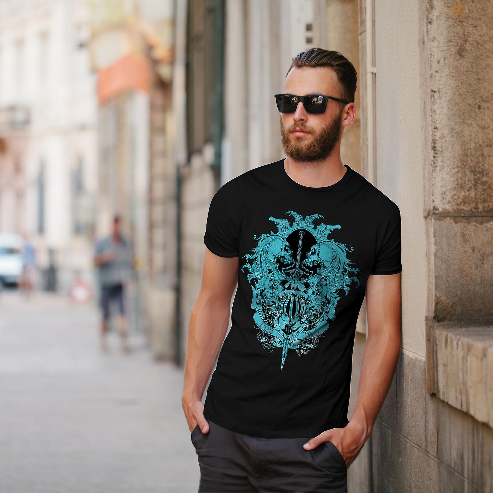 Ghost Skull Dead Vintage Men BlackT-shirt | Wellcoda