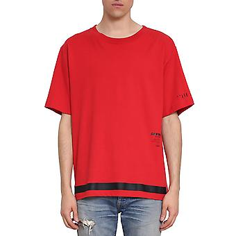 Unravel project men's UMAA004S181260042010 red cotton T-Shirt