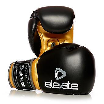 Elevate  PU Boxing Gloves - Black Gold