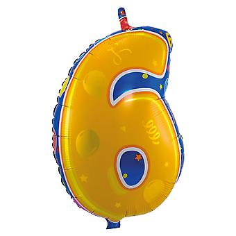 Foil balloon number 6 birthday anniversary new year's Eve new year balloons about 56 cm