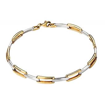 Elements Gold Open Rectangle Link Bracelet - Gold/Silver