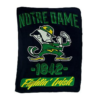 Retro Notre Dame Plush Micro Raschel Throw Blanket