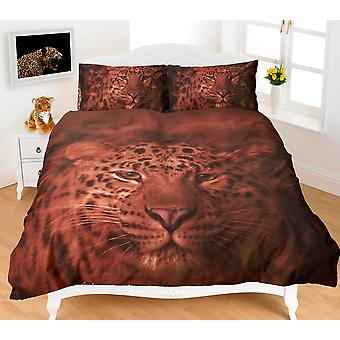 Animal Leopard 3D Effect Duvet Cover Bedding Set