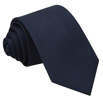 Marineblauwe Panama zijde slanke Tie