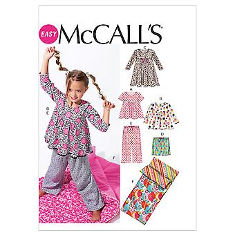 Children's/Girls' Tops, Dress, Shorts, Pants  and Sleeping B-MED-LRG-XLG -*SEWING PATTERN*