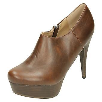 Ladies Spot On Platform Ankle Boot