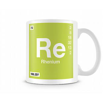 Element Symbol 075 Re - Rhenium Printed Mug