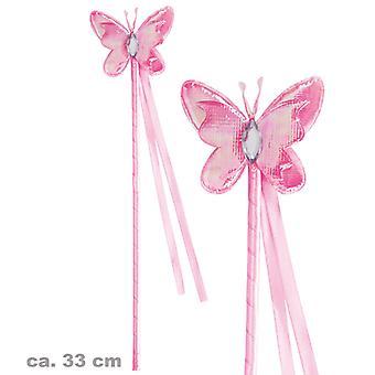 Фея палочка розовая бабочка аксессуар палочка