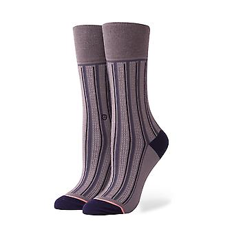 Stance Stripe Down Socks - Charcoal