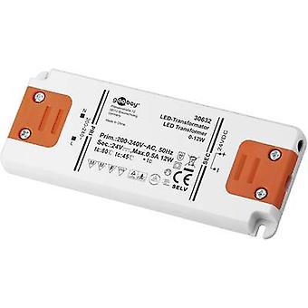 Goobay SET 24-12 LED slim LED trasformatore tensione costante 12 W 0,5 A 24 Vcc non dimmerabile, approvato per l'uso su mobili