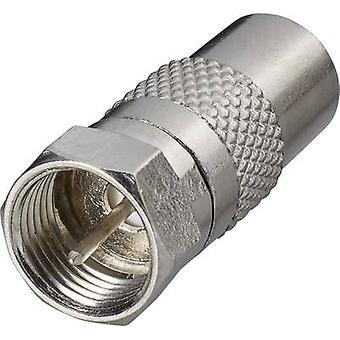 Sat antenna adapter[F plug-Belling-Lee/IEC plug 75Ω] SilverRenkforce