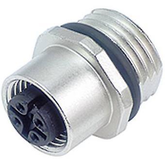 Binder 09-3432-77-04 M12 Sensor / Actuator Connector, Screw Closure, Straight