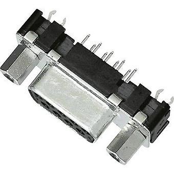 D-SUB recipientes 180 ° número de pernos: 15 soldadura Harting 09 66 255 6511 1 PC