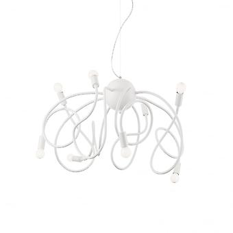 Ideal Lux Multiflex 8 Bulb Pendant Light White