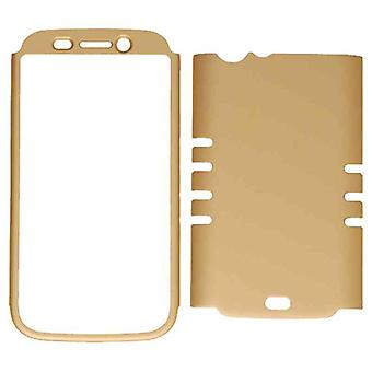 Rocker Series Snap-On Protector Case for Blu Life One L120 (Rubberized Honey Gol