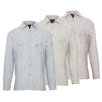 Pack of 3 Mens Champion Tattersall Country Style Casual Check Long Sleeved Shirt