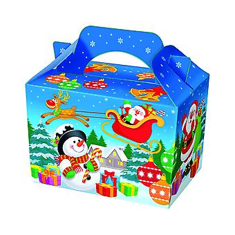 Single Festive Character Card Christmas Party Food or Treat Box