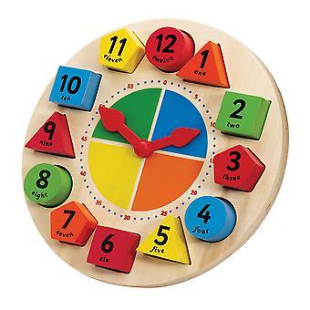 Tidlo legno educativi l'ordinamento e l'insegnamento orologio tempo imparare il gioco