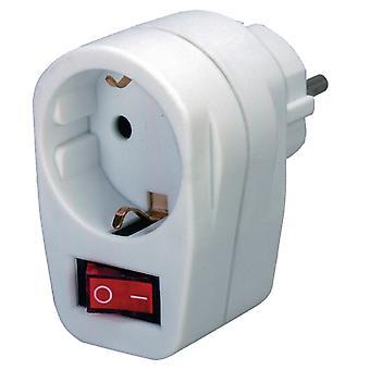 Brennenstuhl BN-1508070 Stopcontact Adapter Aan/uit-schakelaar F (cee 7/3) Wit