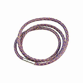 Armbånd læder Slim-lilla F2821PU04
