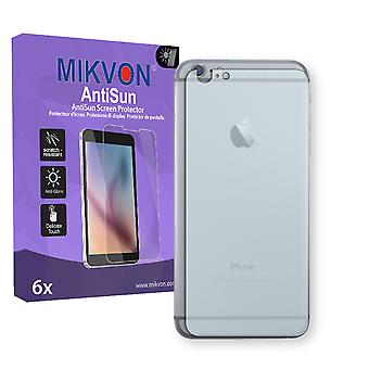 Apple iPhone 6s Plus reverse Screen Protector - Mikvon AntiSun (Retail Package with accessories) (reduced foil)