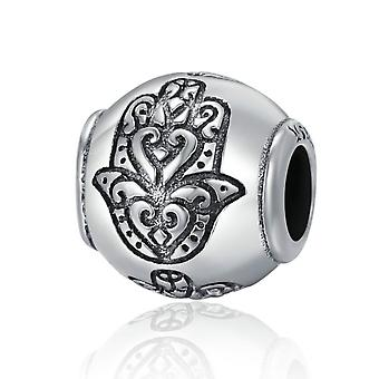 Sterling silver charm Ball with fatima hand