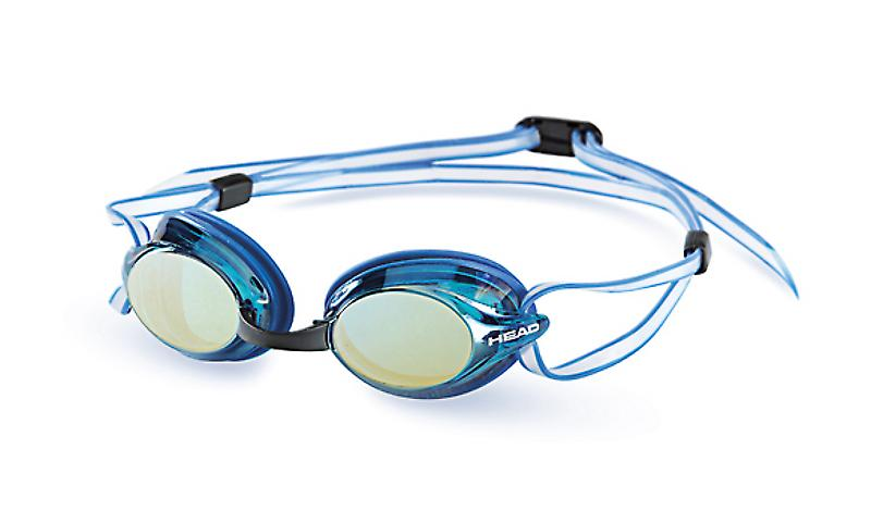 Head Venom Race Swimming Goggle - Blue Mirrored Lenses - Blue