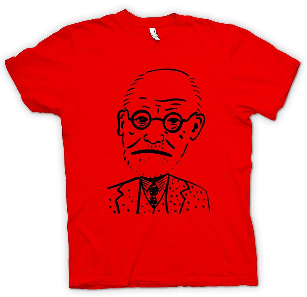 Mens T-shirt - Sigmund Freud - Psychologie - Karikatur