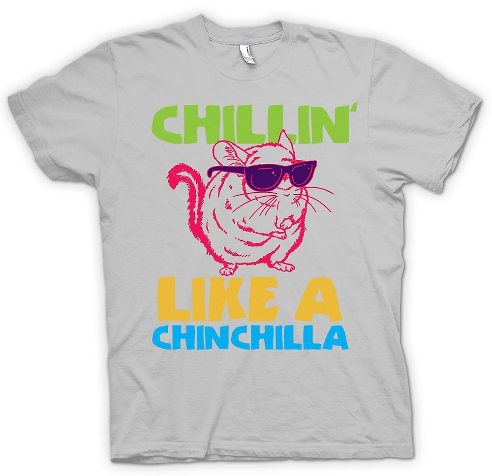 Hommes T-shirt - Chillin Like A Chinchilla