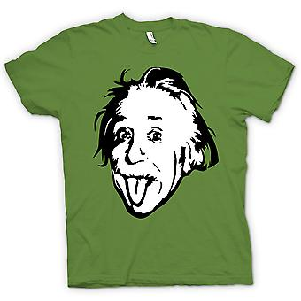 Womens T-shirt-Albert Einstein tong uit - Funny