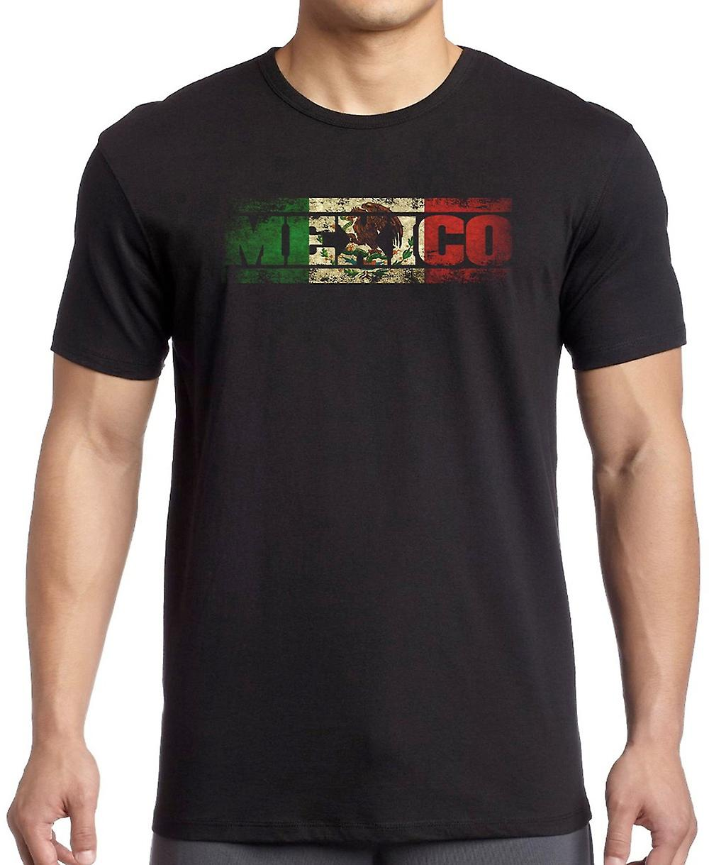 Mexico Mexican Flag - Words T Shirt