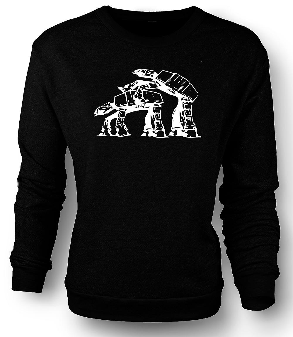 Mens Sweatshirt Star Wars - AT-AT - Retro grappig