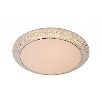Lucide Betrano klassieke ronde acrylaat opaal Flush plafondlamp