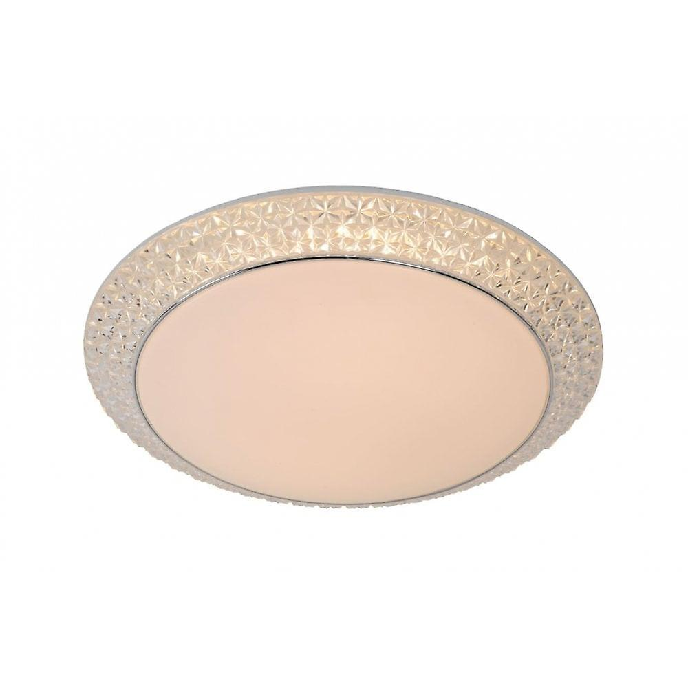 Lucide Betrano Classic Round Acrylic Opal Flush Ceiling lumière