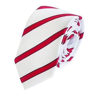 Tie stropdas stropdas tie 6cm rood wit rood gestreepte Fabio Farini