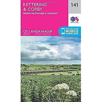Landranger (141) Kettering & Corby (OS Landranger kaart)