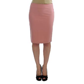 Exte Pink Wool Stretch Straight Pencil Skirt -- SIG3069765