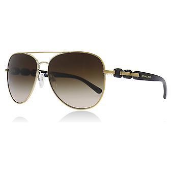 Michael Kors MK1015 112813 Gold-Ton Pandora Piloten Sonnenbrille Kategorie 3 Objektivgröße 58mm