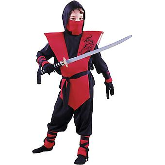 Red and Black Ninja Costume Boys - Soldier