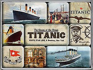 Titanic set of 9 mini fridge magnets