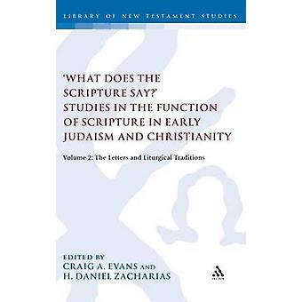 What Does the Scripture Say Studies in the Function of Scripture in Early Judaism and Christianity by Evans & Craig A.