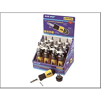 RATCHETING SCREWDRIVER 7 IN 1